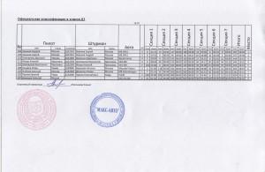 Официальная классификация в классе Д1